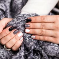 Women's hands with a stylish manicure